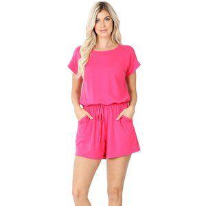NWT Hot Pink Romper
